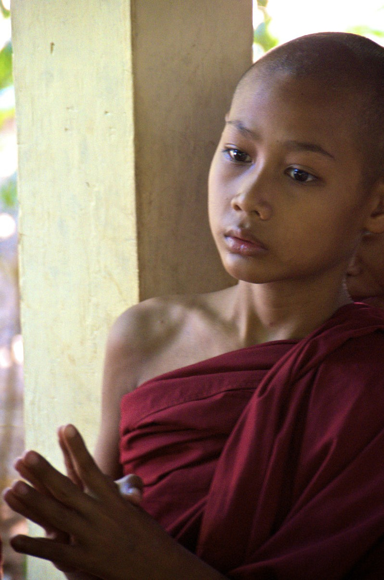 Photograph A young monk by Joe Routon on 500px
