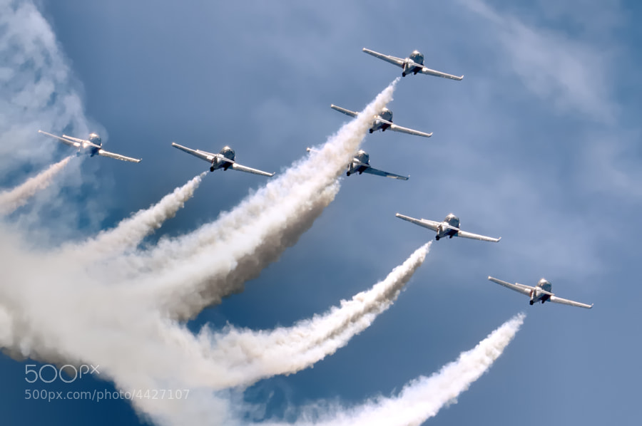 The CAF Snowbirds over Marietta, Georgia