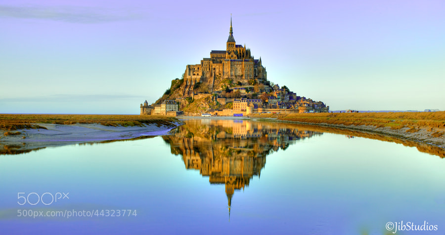 Photograph Mont-Saint Michel at dusk by Jibstudios  on 500px