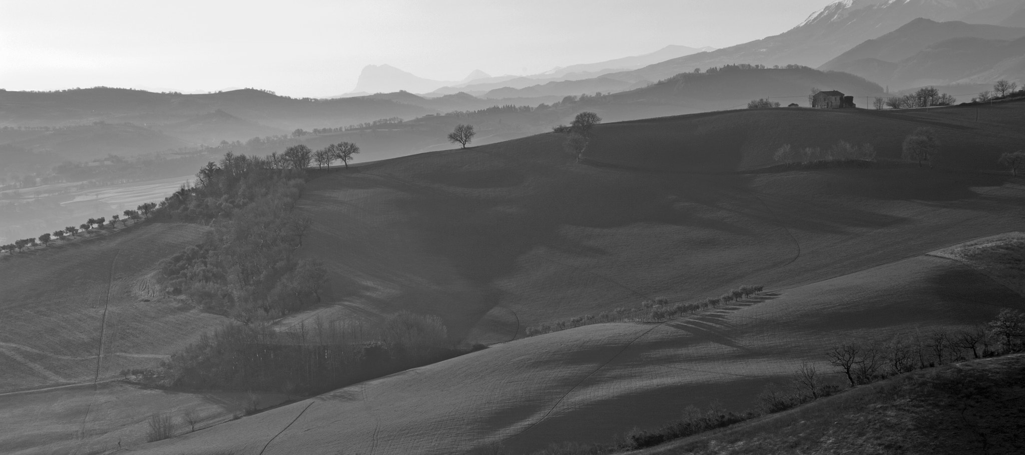 Photograph Country in b/w by Luca Feliziani on 500px