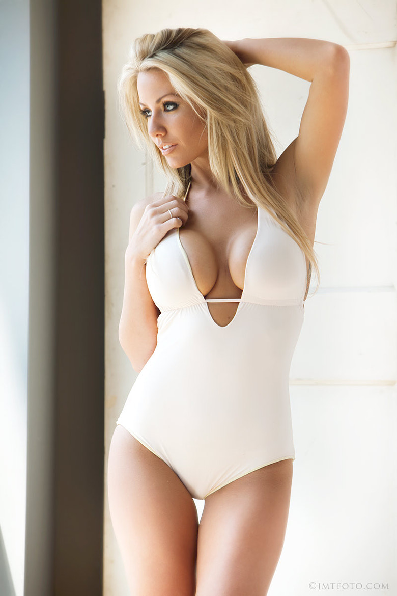 Photograph AJ in a White Swimsuit by Jim Merrill on 500px