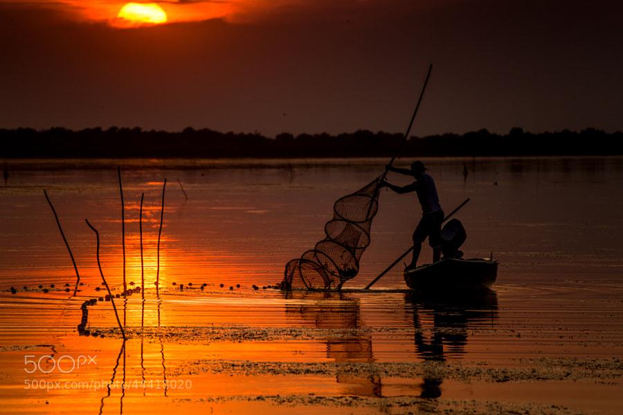 Photograph Fisherman at sunset by Radu Dumitrescu-Elian on 500px