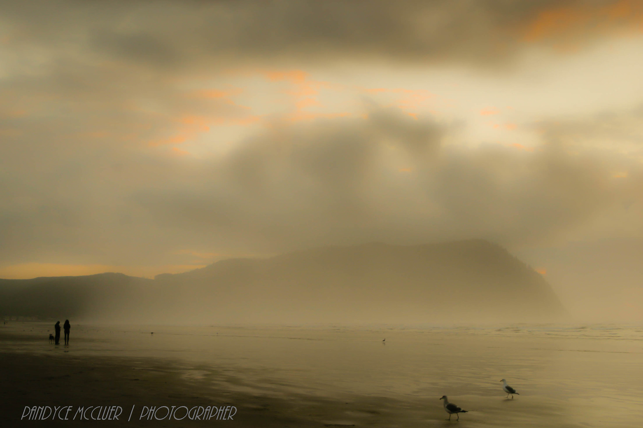 Photograph Foggy Beach Strollers by Pandyce McCluer on 500px