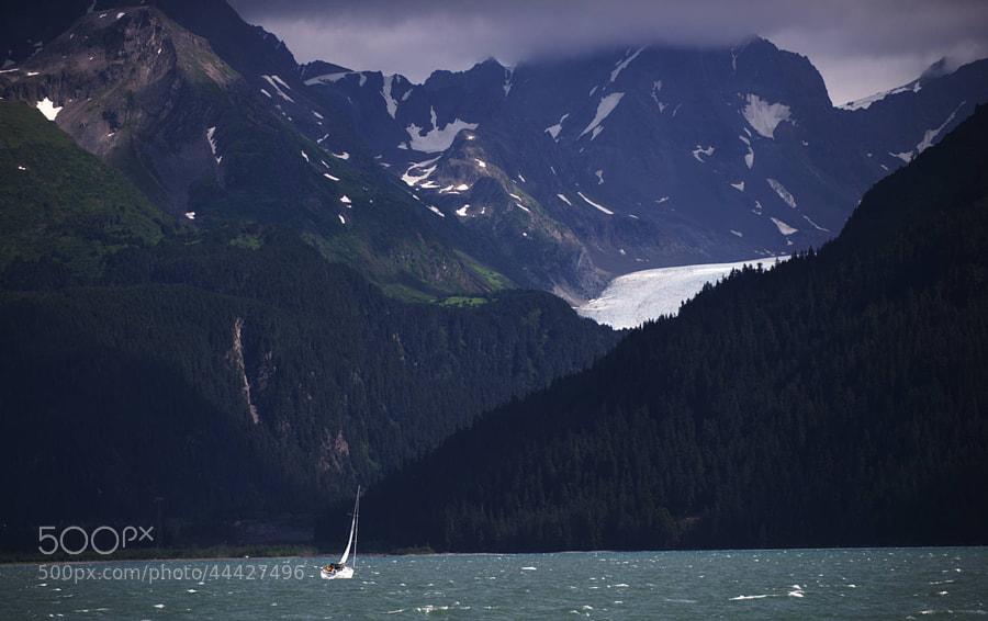 Sailing the waters of Seward, Alaska, USA.