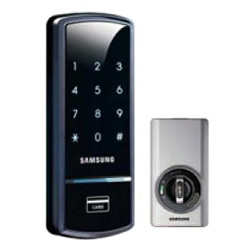 Постер, плакат: SHS 3420 New Deadbolt Smart Lock, холст на подрамнике