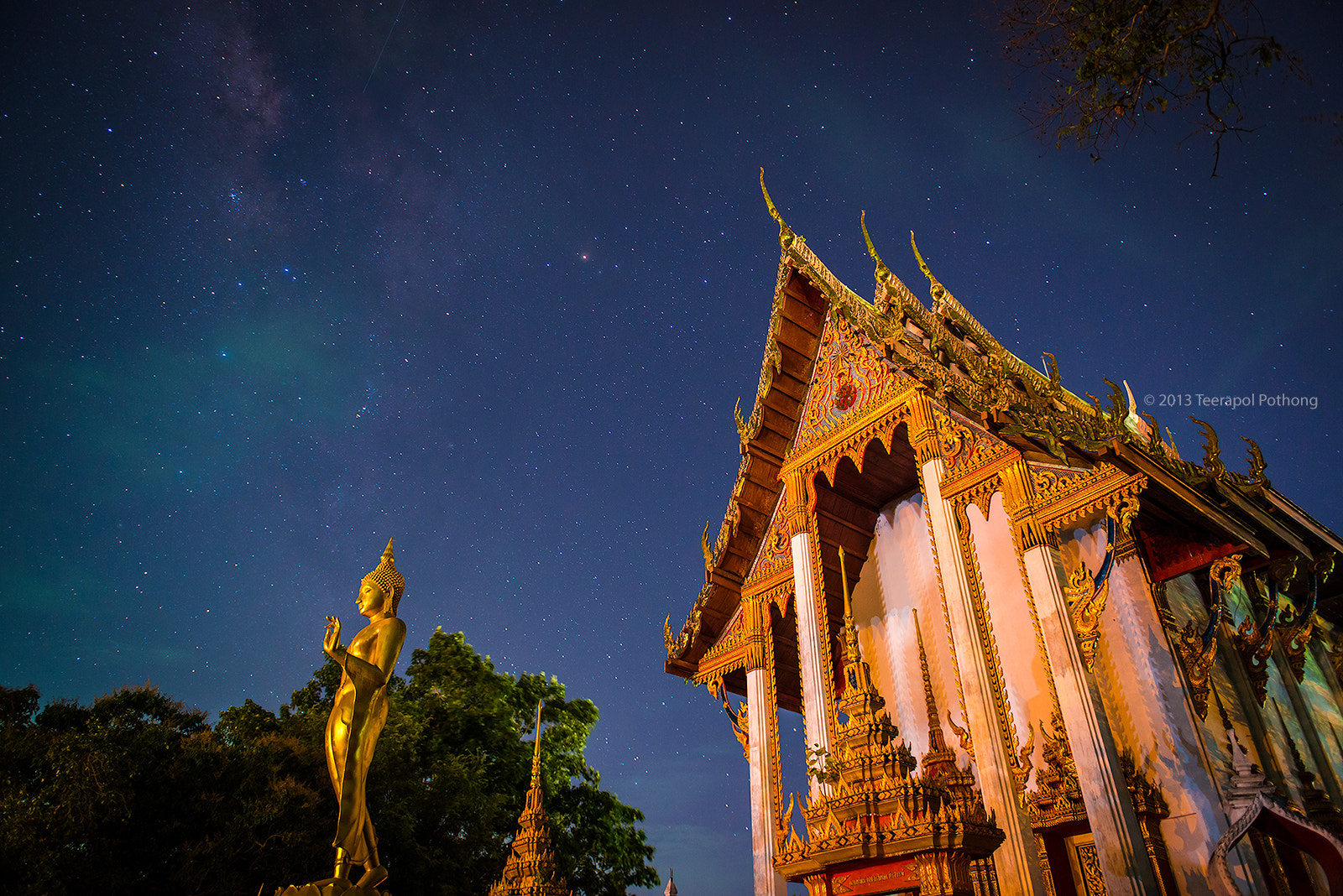 Photograph Milky Way Over Khao Bot Temple by Teerapol Pothong on 500px