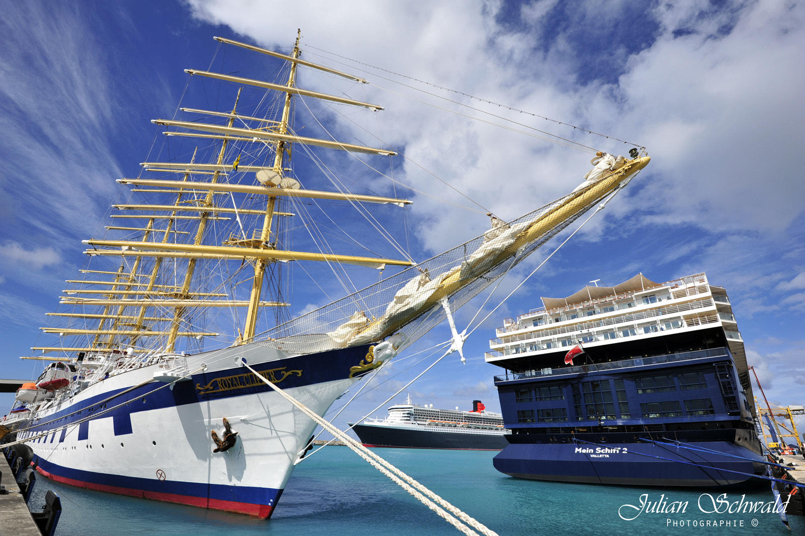 Photograph Royal Clipper, TUI Mein Schiff 2 and Queen Mary 2 by Julian Schwald on 500px