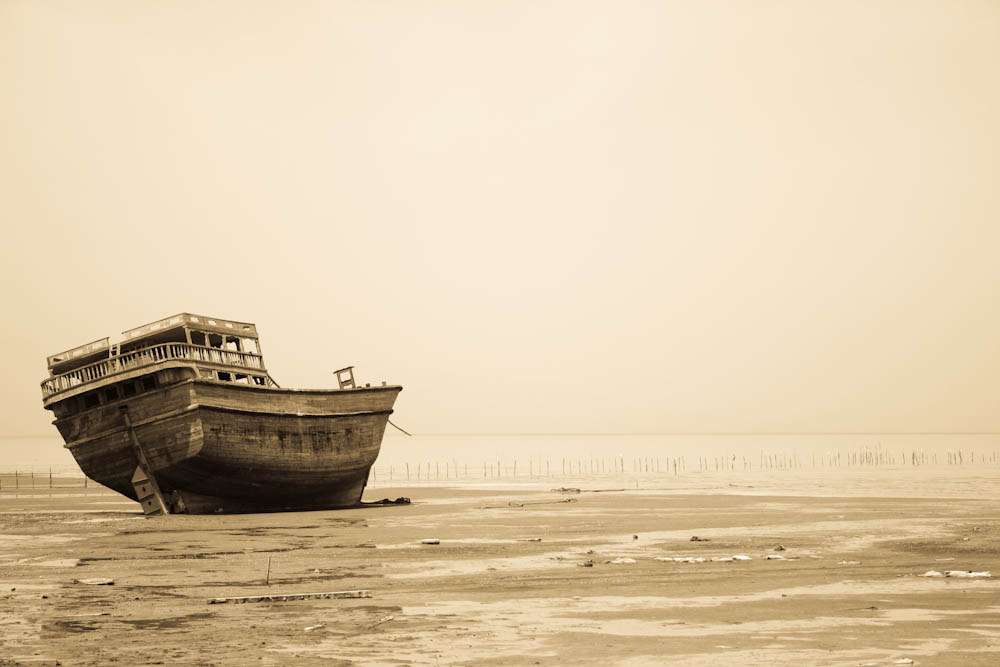 Photograph Ship stranded by Qmars Farahani on 500px