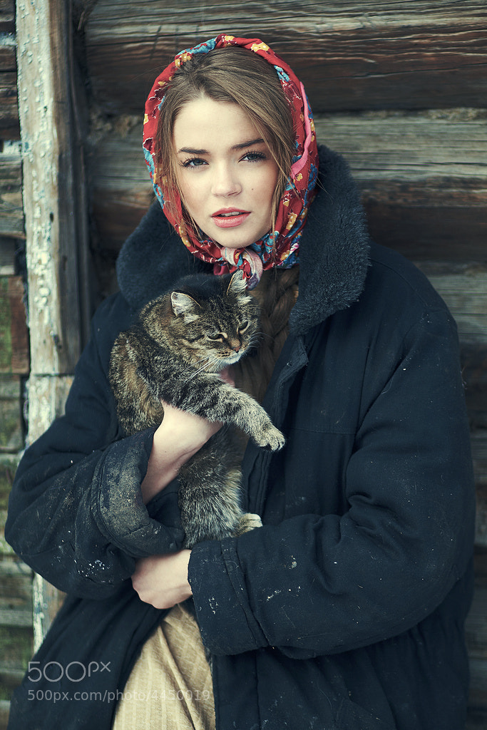 Photograph Svetlana and her cat by Denis Kolucci on 500px