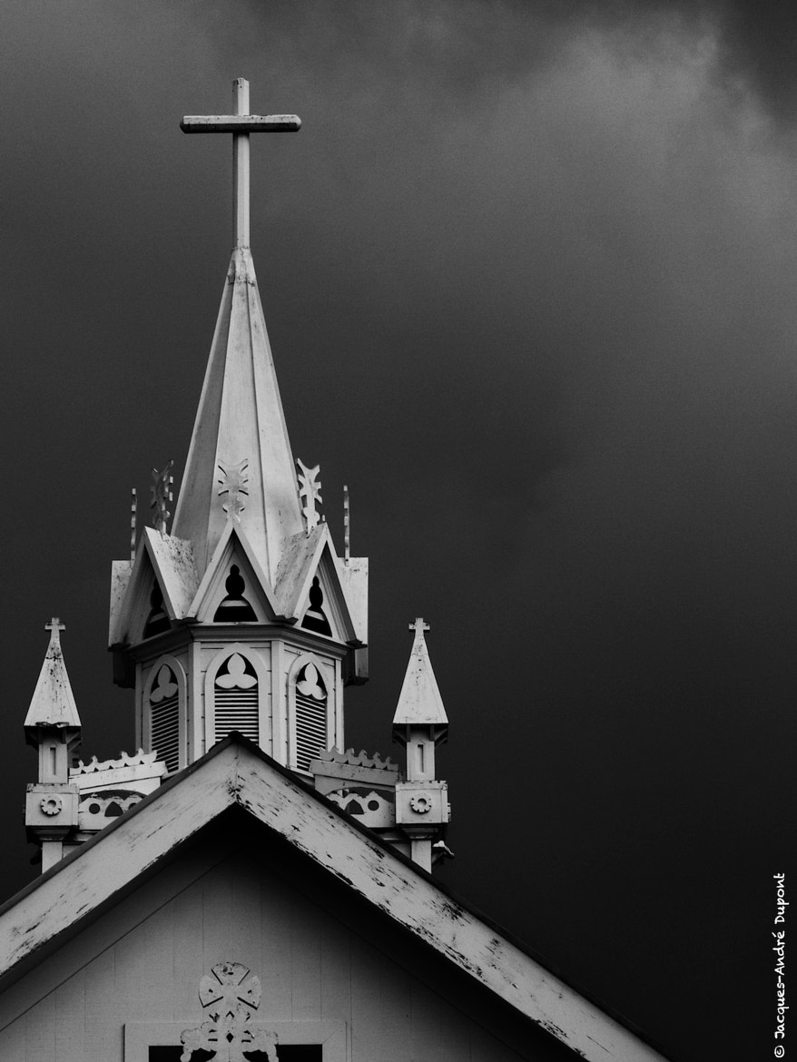 Photograph Dark sky church by Jacques-Andre Dupont on 500px