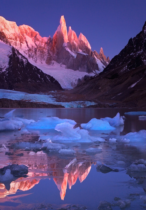 Photograph Crimson Crags. Cerro Torre, Patagonia by Michael Anderson on 500px