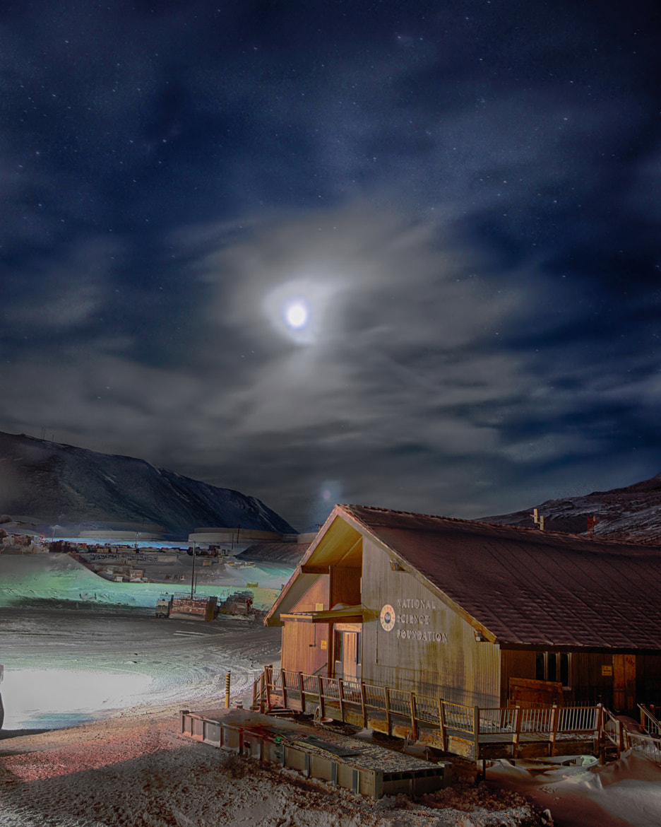 Photograph McMurdo Moonlight by Deven Stross on 500px