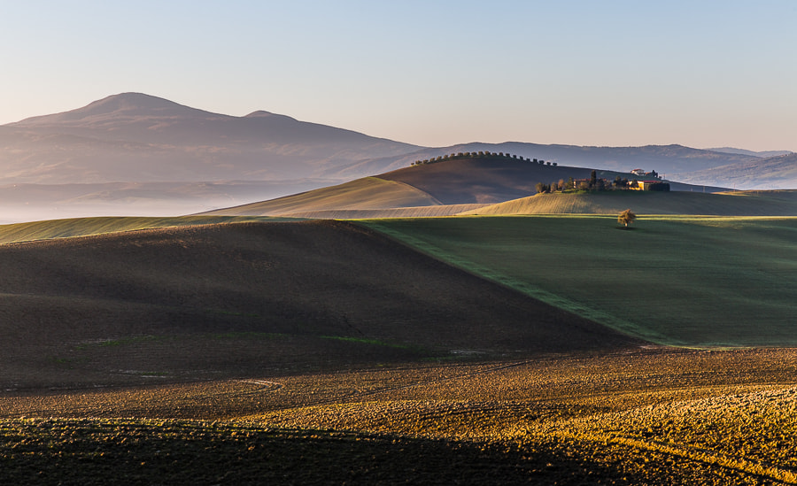 Photograph Fields in Tuscan morning sun by Hans Kruse on 500px