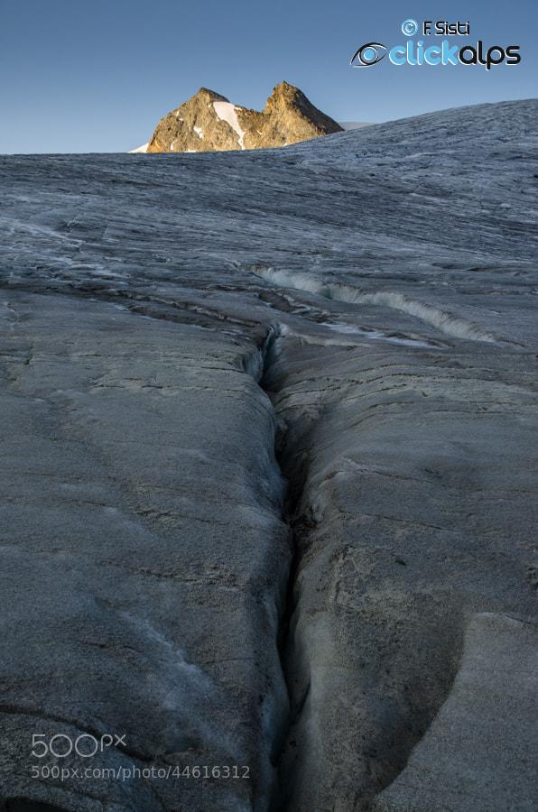 Photograph Crevasse (Ghiacciaio del Rutor, Valle della Thuile, Valle d'Aosta) by Francesco Sisti on 500px
