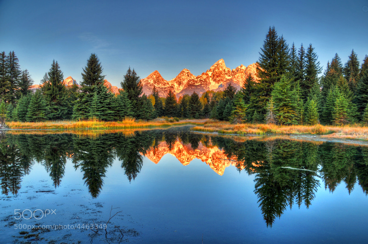Photograph Reflections of Schwabacher Landing and the Tetons by Ronnie Wiggin on 500px