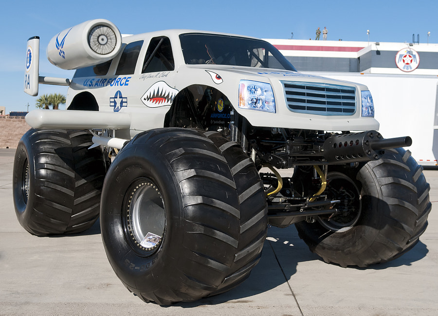 U.S. Air Force monster truck made to look like a A-10 Warthog