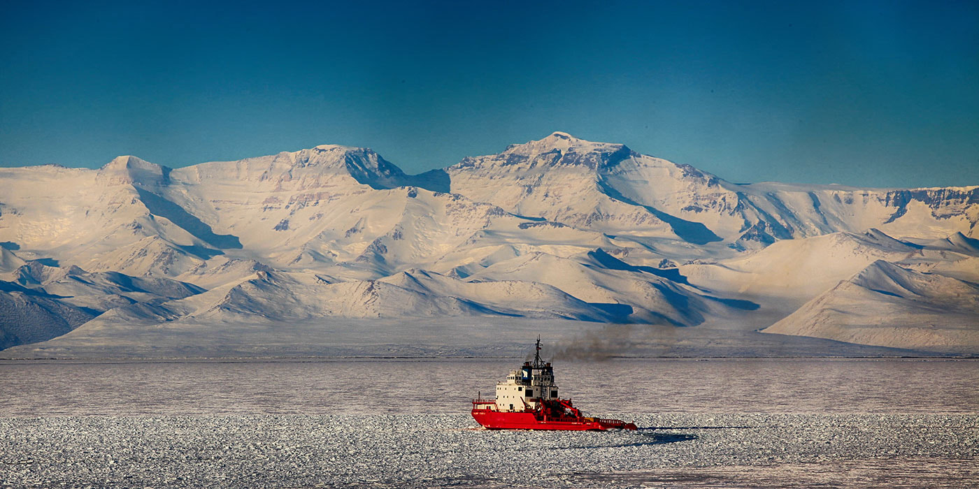 Photograph Ice Breaker and the Royal Society Mountains by Deven Stross on 500px