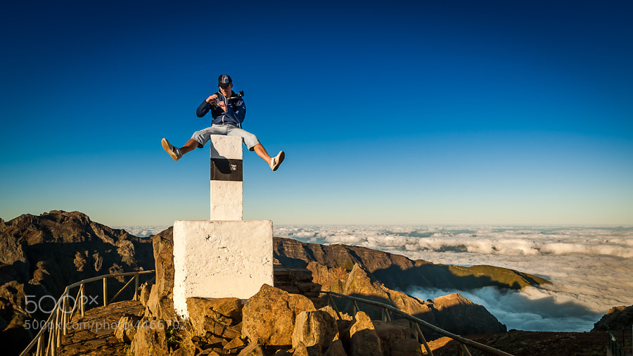 Photograph My brother and his iPhone on Pico do Areeiro by Magnus Larsson on 500px