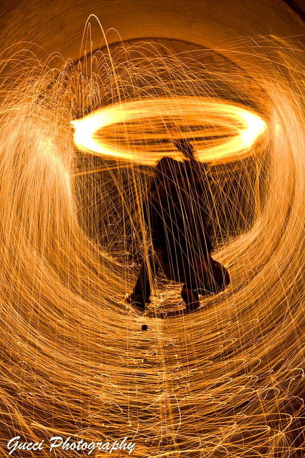 Photograph Steel Wool Over the Head by Matt Yamaguchi on 500px