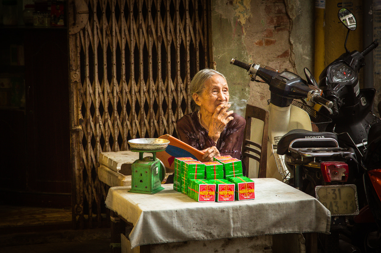 Photograph Street Seller in the Old Quarter of Hanoi by Walter Lustig on 500px