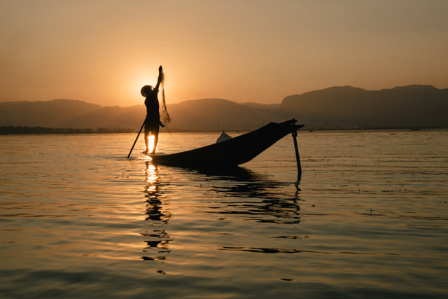 Photograph Inle Lake in the evening by Anne Beringmeier on 500px