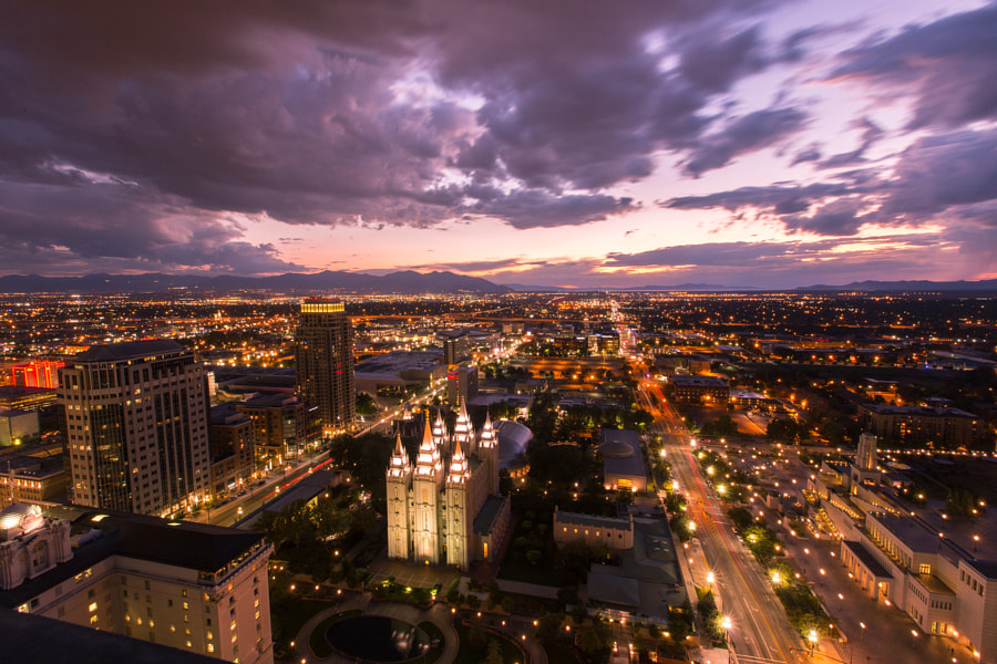 Photograph Salt Lake City from Above by Jeremy Hall on 500px