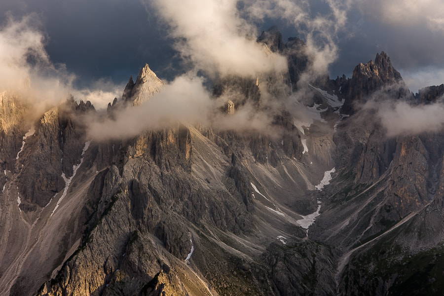 Photograph Cadini at sunset seen from Tre Cime di Lavaredo by Hans Kruse on 500px