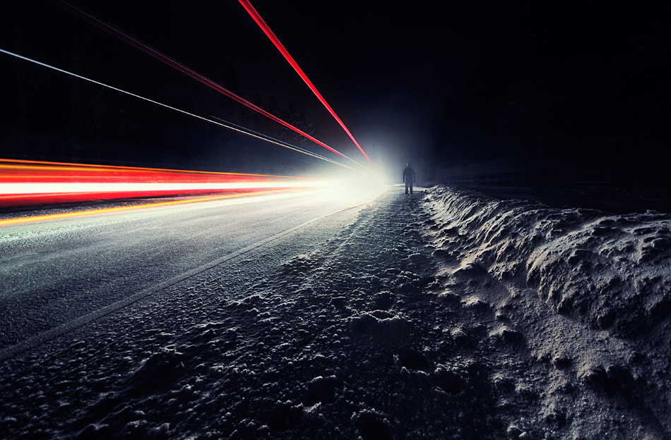 Photograph Night Road by Mikko Lagerstedt on 500px