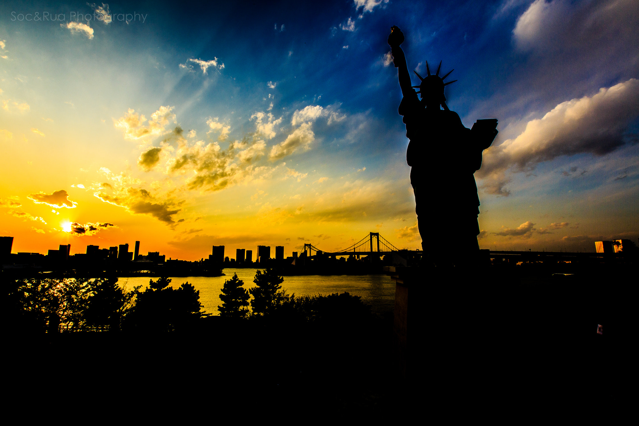 Photograph Sunset in Odaiba by Huy Tonthat on 500px