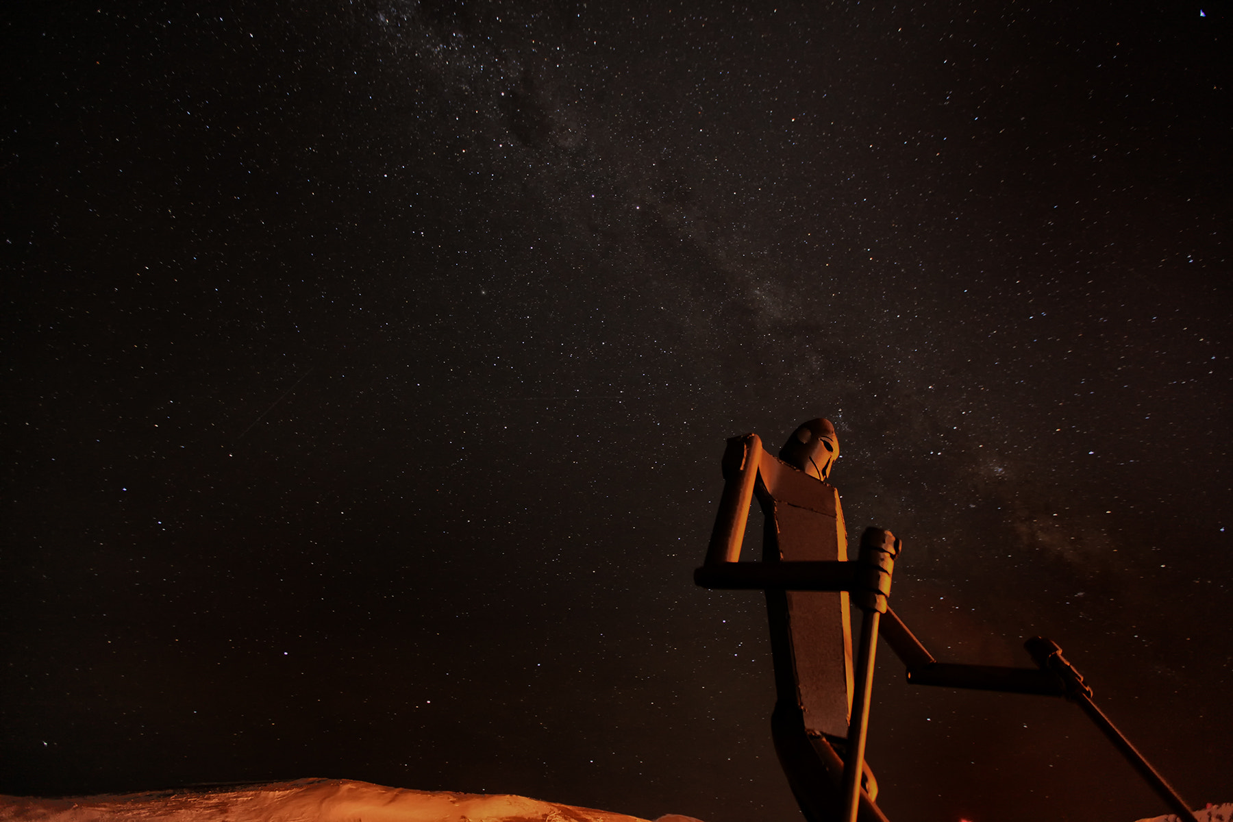 Photograph Skiing the Milky Way by Deven Stross on 500px
