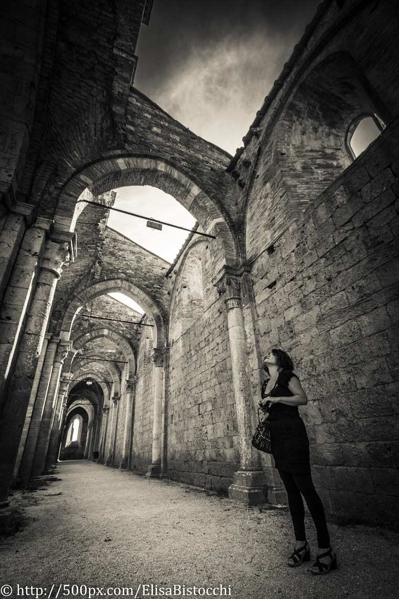 Photograph Tourist in San Galgano abbey by Elisa Bistocchi on 500px
