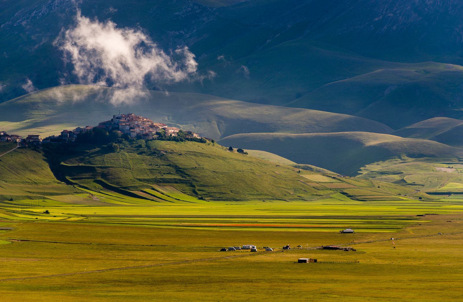 Photograph Castelluccio in morning sun by Hans Kruse on 500px