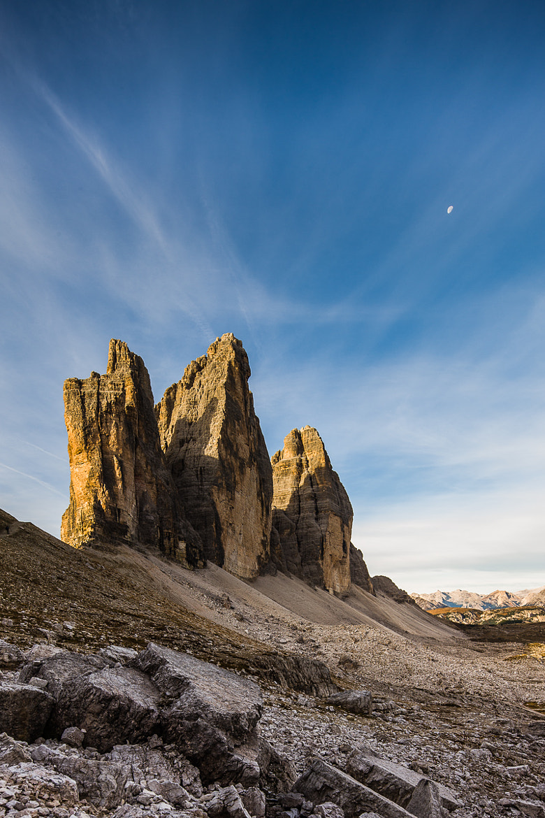 Photograph Tre Cime di Lavaredo in morning sun by Hans Kruse on 500px