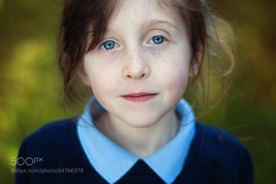 Photograph Portrait of a schoolgirl by Lukasz Maksymiuk on 500px
