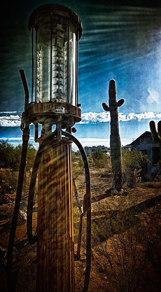 Photograph Vulture Mine Gas Pump by Paul Bartell on 500px