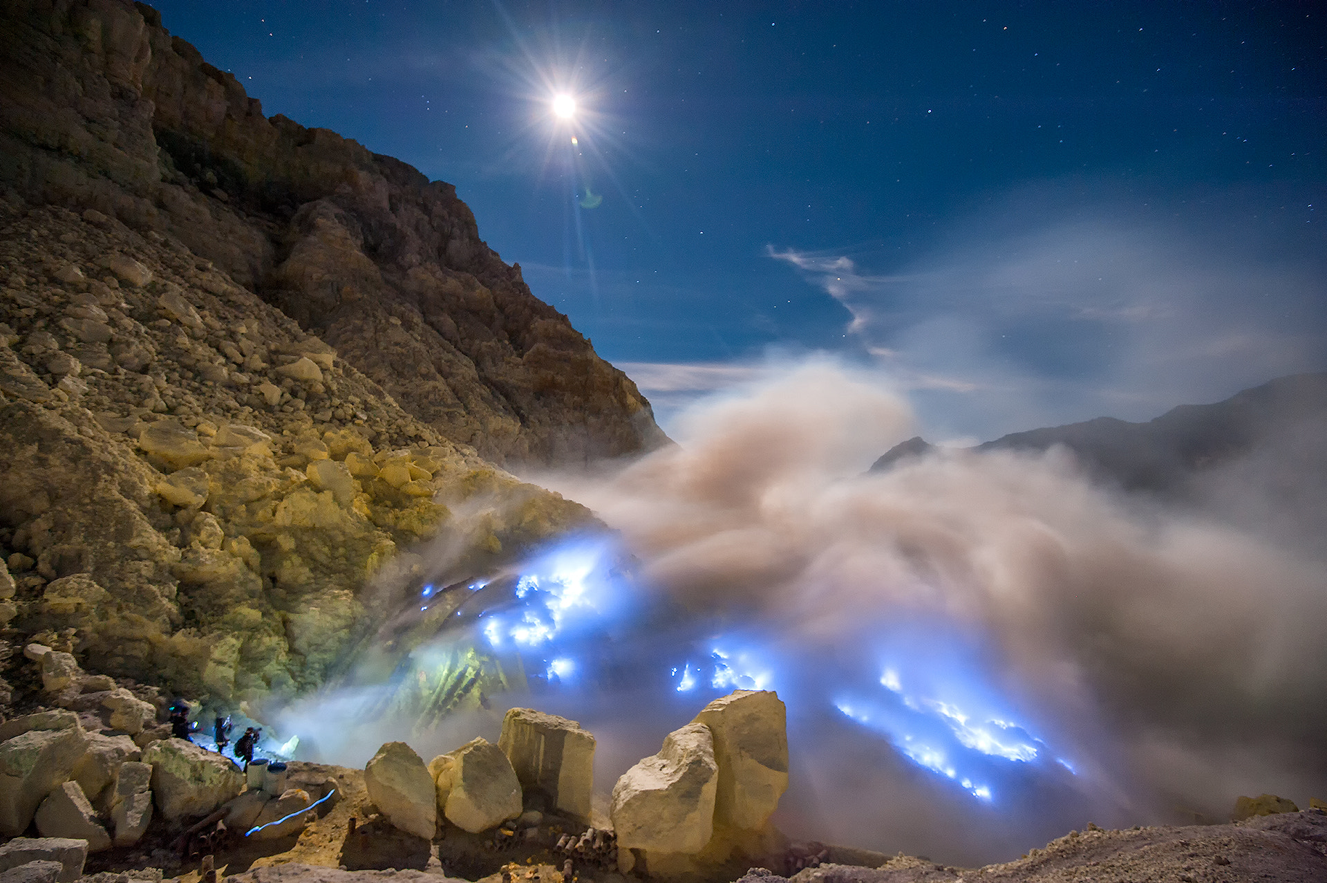 Photograph Blue sulfur flames by Puchong Pannoi on 500px