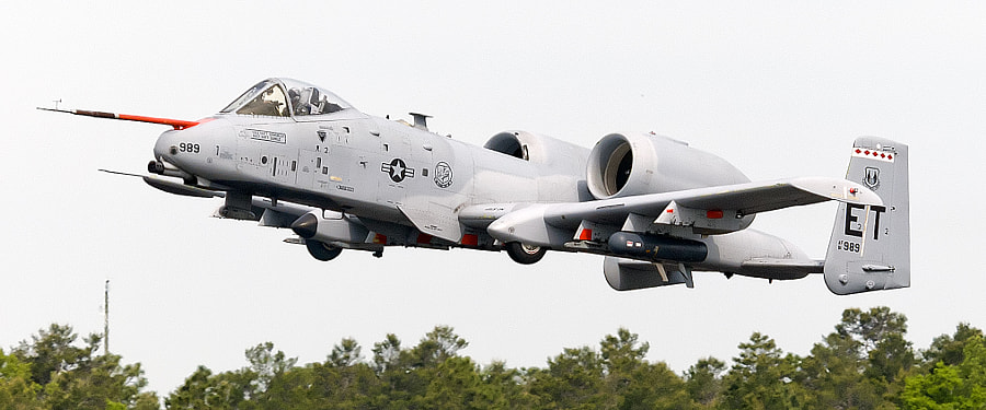 That isn't a Jousting Sword on the nose of the A-10. It is a test probe used during flight testing.