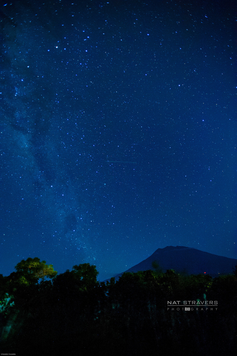 Photograph Milky way above Agung Mountain - Bali by Nathalie Stravers on 500px