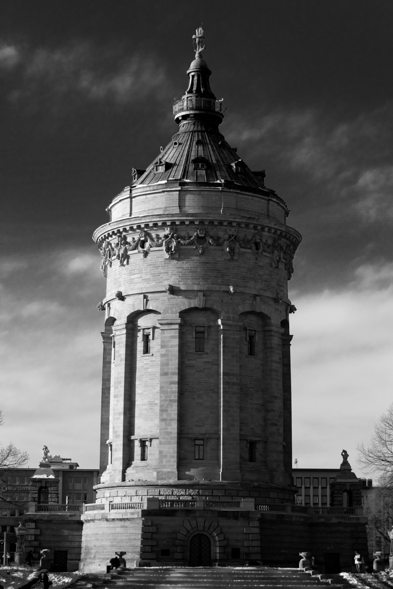 Photograph Mannheimer Wasserturm in black and white by Sebastian ¿? on 500px