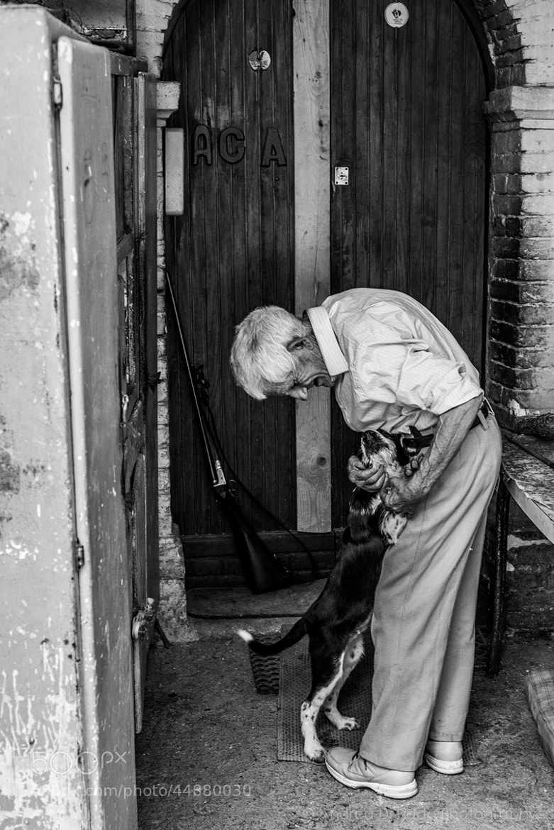 Photograph Lanfranco, his shotgun and his dog by Andrea Di Liddo on 500px