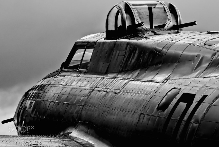Low clouds hang over the B-17G Liberty Belle during a stopover at PDK Atlanta