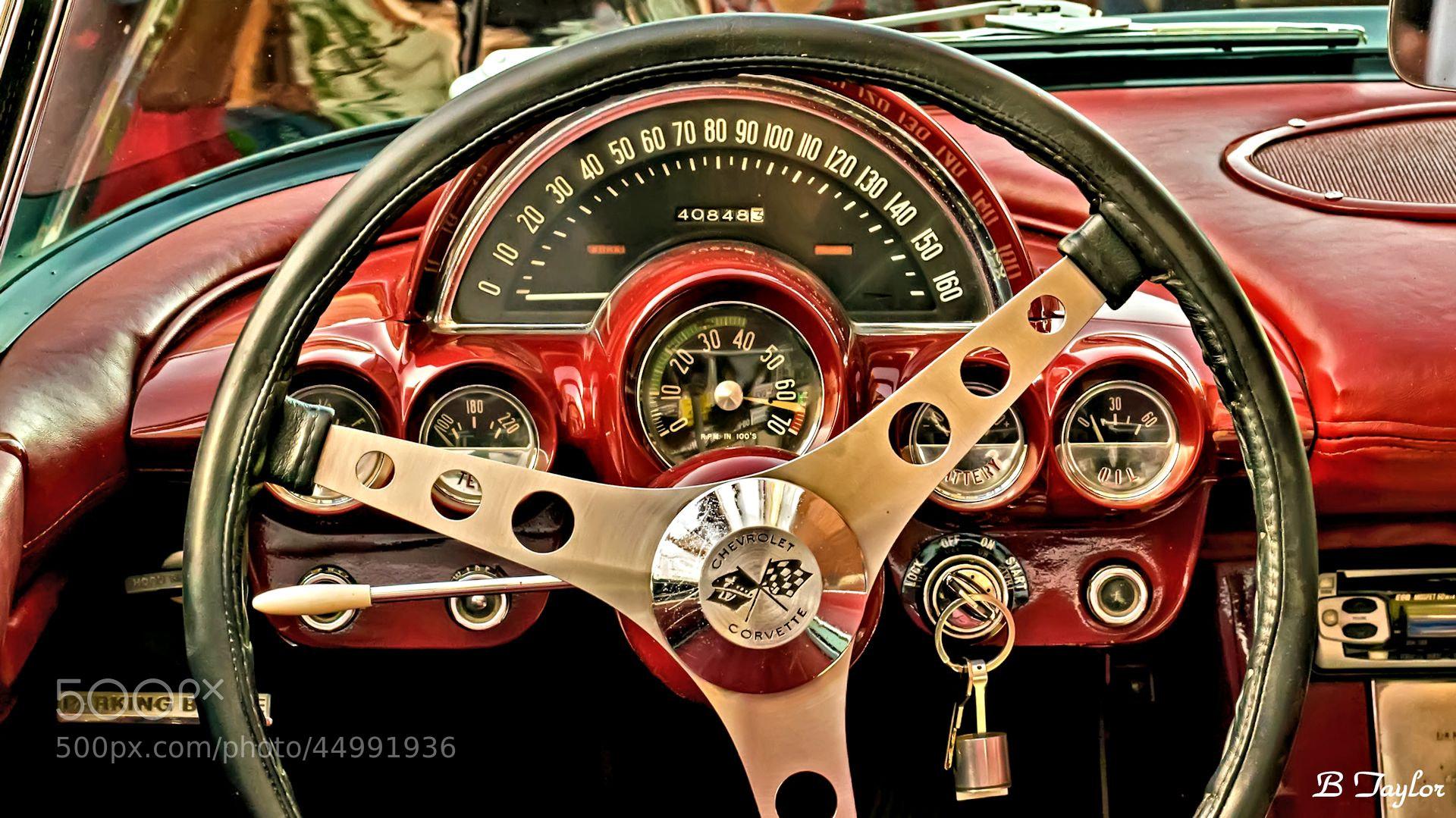 Photograph 1958 Corvette dash by Bradley Taylor on 500px