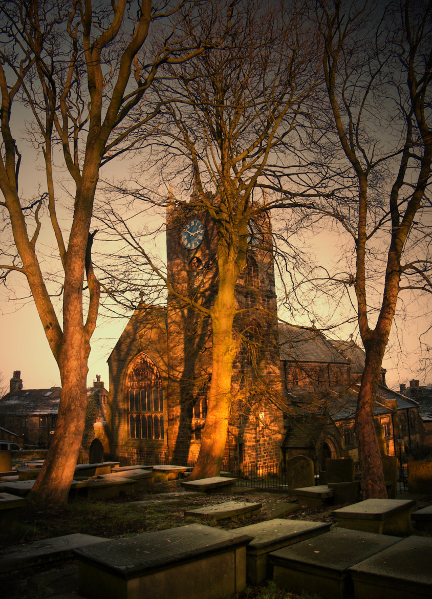 Photograph Sunset.Haworth Church by Terence tucker on 500px