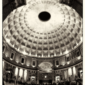 Pantheon from main entrance by Paolo Costantino (PaoloCostantino)) on 500px.com