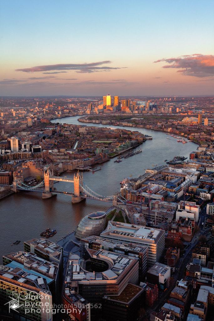Photograph Tower Bridge & Canary Wharf, London by Simon Byrne on 500px