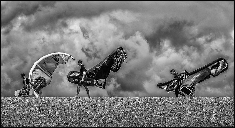 Photograph Kiters vs Storm by Inan Aksoy on 500px