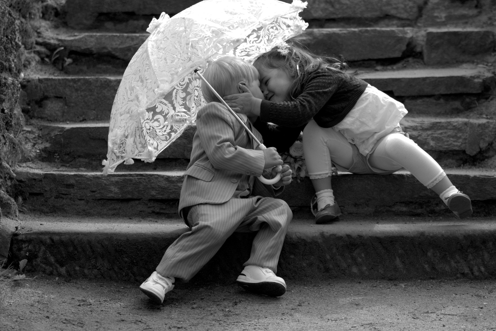 Photograph Kissing Kids by Alexander Baumbach on 500px
