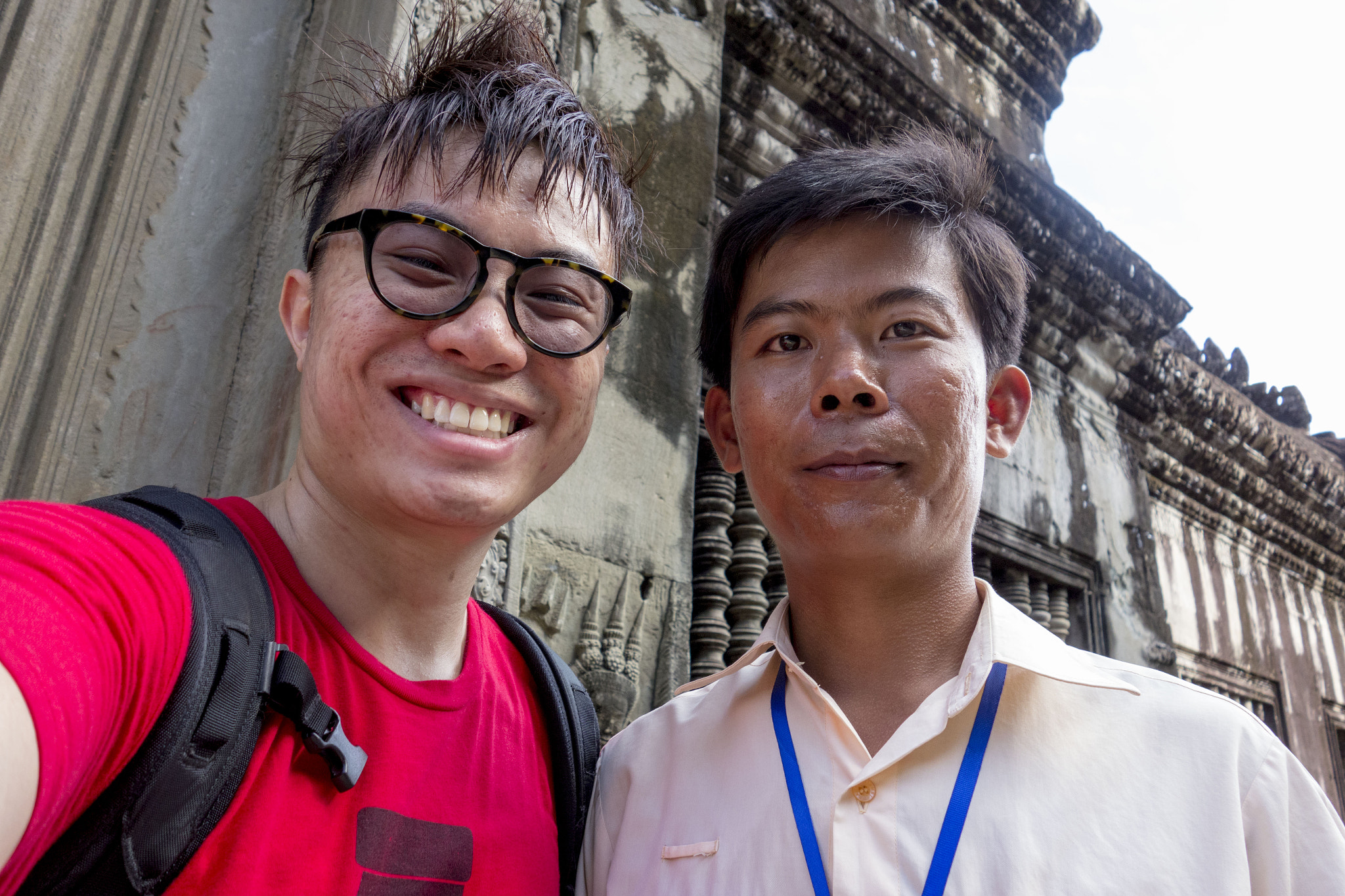 Photograph My Cambodia tour guide and myself by Joseph Louis Tan on 500px