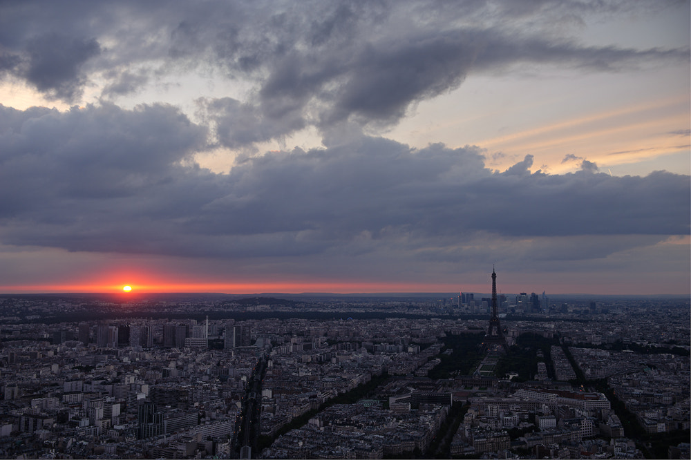 Photograph Sunset in Paris by Sung Chul Park on 500px