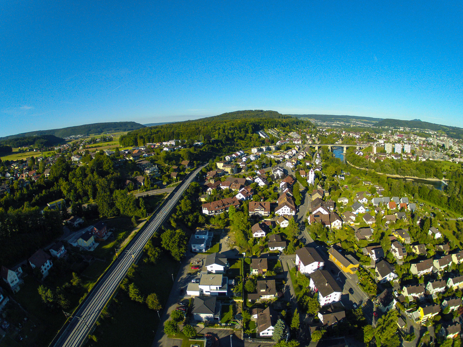 Photograph Fly over Brugg & Umiken by Hans Fischer on 500px